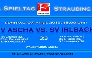 Vorschau -Endergebnis SV Ascha - SV Irlbach Kopie