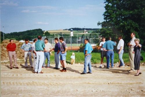 Spatenstich zum Hauptspielfeld am 31.07.1996 004