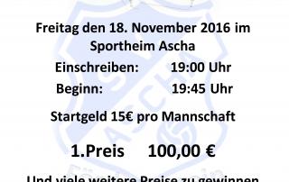 Plakat Wattturnier 2016 Förderverein SV Ascha