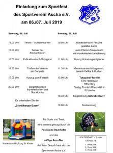 Program Sportfest 2019